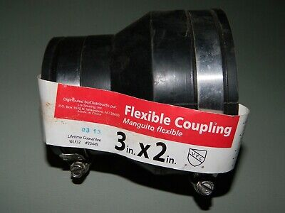 New Wlf32 Flexible Coupling Reducer 3 X 2 With Stainless Worm Gear Clamps