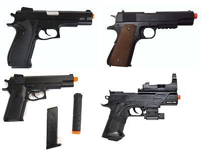 Best Offer 4 Spring Pistols Hand Guns Target Laser Colt Cheap Deal Bundle