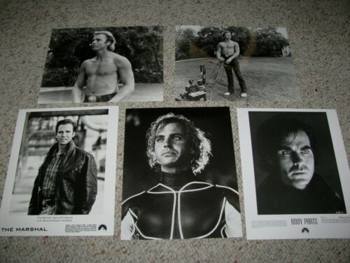"JEFF FAHEY FIVE (5) B&W 8x10 PHOTOS ""BODY PARTS"" ""THE LAWNMOVER MAN"" THE MARSHAL"