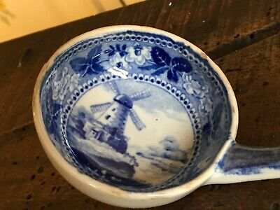 Old Delft Small Soup Tureen Ladle Blue & White Holland