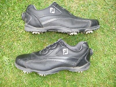 Mens Black Footjoy Hydrolite Cleated Golf Shoes with Boa Closure System Size 9.5