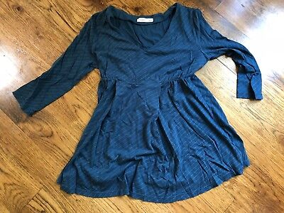 V-neck Baby Doll Maternity Top - Old Navy Maternity S Shirt Top Blouse Babydoll Blue Stripes V Neck