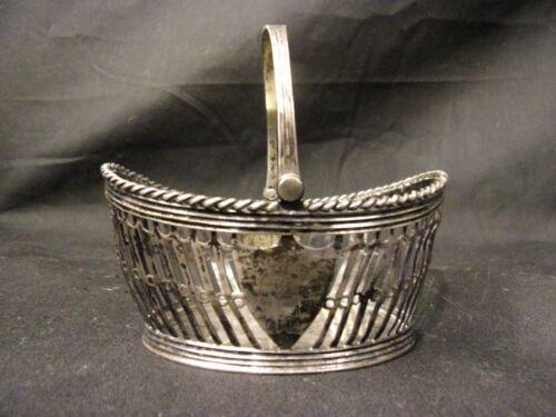 Antique Dutch Sugar Basket early 19th Sterling Silver