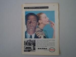 advertising Pubblicità 1959 ESSO EXTRA - Fuorni, Italia - L'oggetto può essere restituito - Fuorni, Italia