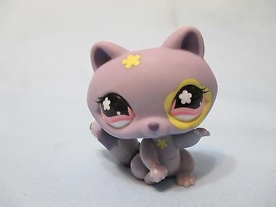 Littlest Pet Shop Raccoon Purple Pink Flower Eyes 597 Authentic Lps