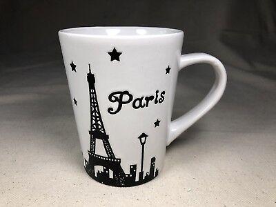 City Scape Signature Coffee Mug Black& White Paris Eiffel TowerHousewares