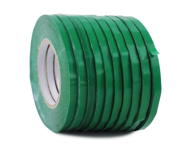 WOD UPVC-24BS Dk. Green Produce Poly Bag Sealing Tape 1/2 in. x 180 yds. 10-Roll