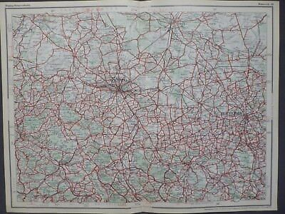 Landkarte Dunlop Strassenkarte 38 Hannover, Braunschweig, Hildesheim, um 1928