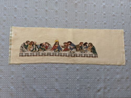 Completed Counted Cross Stitch:  The Last Supper