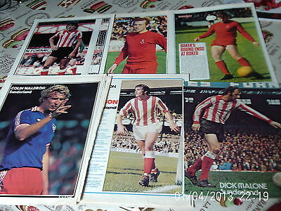 Sunderland  x 6 waldron watson malone baker bolton mcgiven colour A4s