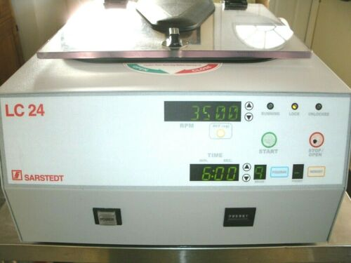 Sarstedt Centrifuge model LC-24, laboratory centrifuge, cleaned and tested