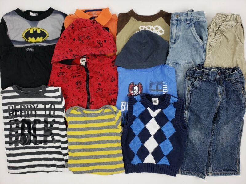 18 Months Boy Oshkosh Carters Place Etc Clothes Lot Batman Outfit Jeans Hoodie