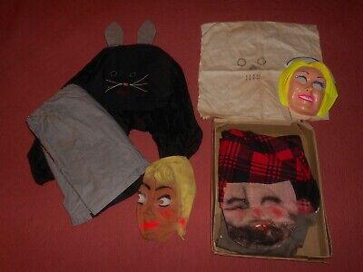 Vintage Halloween Masks & Costume Lot