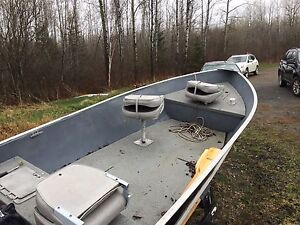 14' Lund boat and trailer