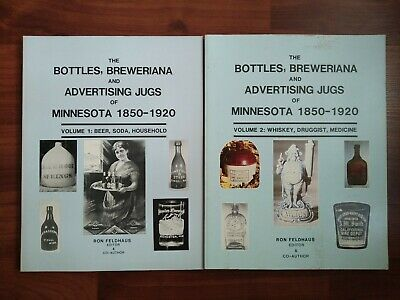 Lot of 2 Bottles Breweriana and Advertising Jugs of Minnesota, 1850-1920 books