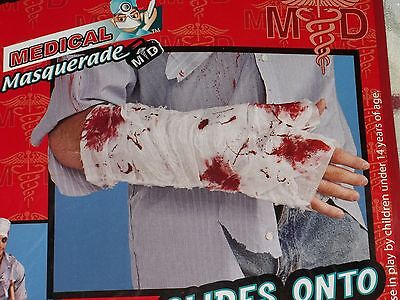 Halloween Costume Bloody Arm Bandage MD Zombie Gauze Wounded Soldier Fake - Halloween Bandage Costume