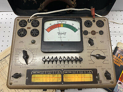 Triplett Vintage Tube Tester Model 3413 With Booklet And Lead