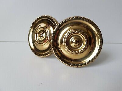 4 large old look french style pulls handles solid brass vintage door 28cm pair B
