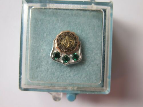 CITY of PALM BEACH Florida Vintage Mini Pin Tack 10K GOLD ORIGINAL CASE GREEN