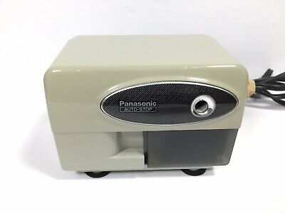 Vintage Panasonic Electric Pencil Sharpener Kp-310 Auto Stoptested Working