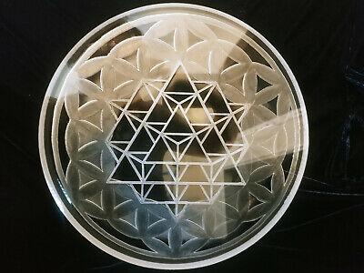 12 Inch Diameter - 1 Thick - Cnc Precision Cut Star Tetrahedron Clear Acrylic