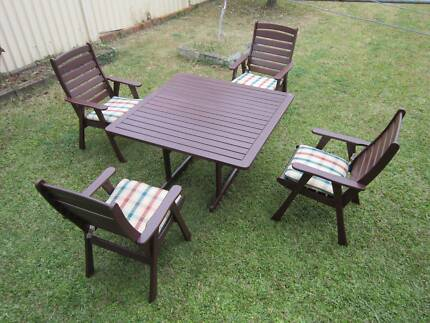 REFURBISHED S2DIO KWILA 5 PIECE  OUTDOOR SETTING CAN DELIVERY Aspley Brisbane North East Preview