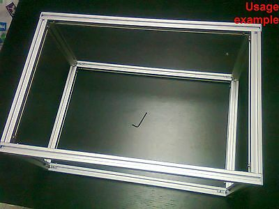 Aluminum T-slot Extruded Profile 20x20-6 Table Or Box Frame Size 500x340x240mm