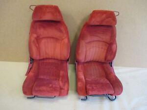 86-87 Firebird GTA Trans Am Red Cloth Front Seat Seats Set 0413-24