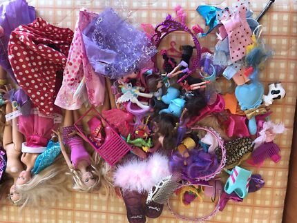 Mixed bag of Barbie Dolls and accessories