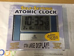 GuestPath Atomic Clock with Date and Indoor Temperature