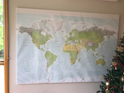 Old world map professionally framed collectables gumtree ikea framed world map gumiabroncs Images