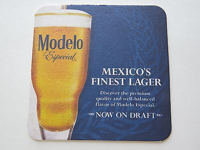 Beer Brewery Coaster: MODELO Especial <> Mexicos Finest Lager <> Now On Draft (Modelo Now)