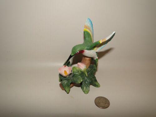 Hummingbird Figure with Pink Flower