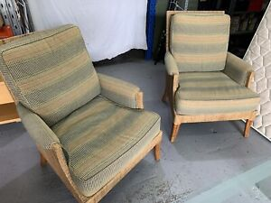 Cane Rattan Armchairs $290 for Pair