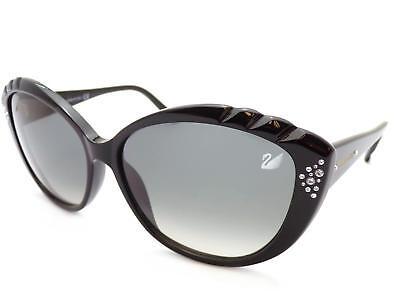 Swarovski Da-Ya Sonnenbrille Glänzend Schwarz mit Kristallen SK0056 01B