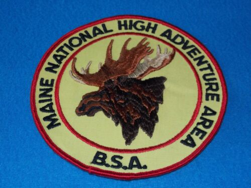 Vintage - BSA Boy Scouts Maine National High Adventure Area - BACKPATCH