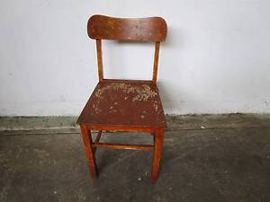 C37058 Single Vintage Rustic Timber Kitchen Chair Unley Unley Area Preview