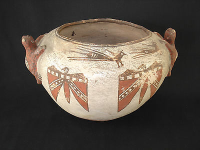 Nice Large Zuni Pottery Frog Jar, Southwest Native American Indian, Circa:1890