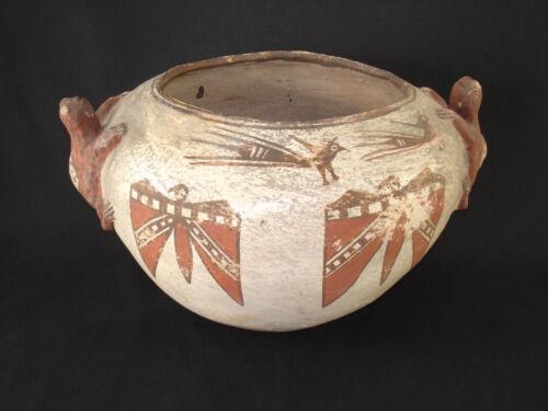 REDUCE! Large Zuni Pottery Frog Jar, S.W. Native American Indian Artifact 1890