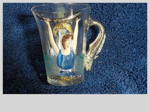 Syria Pittsburg PA Atlantic City July 13 1904 Masonic Glass Fish Handle