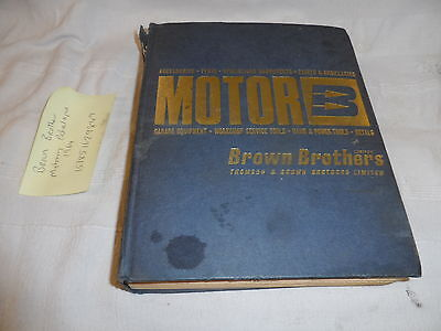 BROWN BROTHERS MOTORING PARTS CATALOGUE DATED 1964
