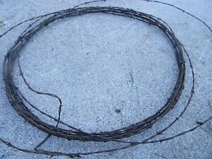 Vintage Barb Wire Rusty Western Art 10 FEET
