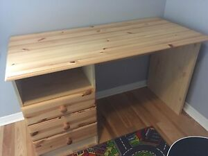 Ikea solid pine desk Burlington