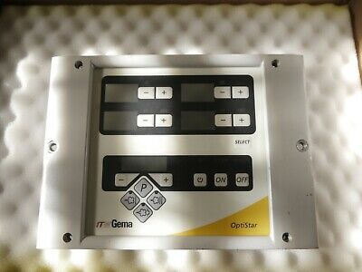 Gema Powder Coating Optistar Cg06 Cg07 - Front Cover Foil Keyboard 1000 394
