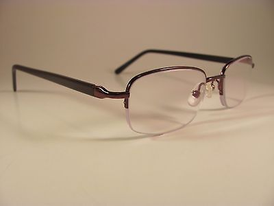 Zenni Optical Brown Rectangular Half Rim Designer Rx Eyeglass Frames