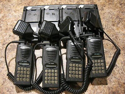 4x Motorola Lts2000 800 Mhz 3w Trunked Radio H10uch6dc5bn W Charger Lotp805