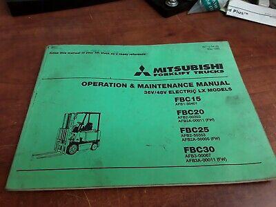 Mitsubishi Forklift Trucks Operation Maintence Manual Electric Lx Models