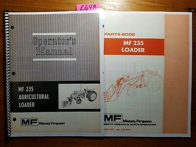 Massey Ferguson Mf235 Mf 235 Agricultural Loader Owner Operator Manual Parts