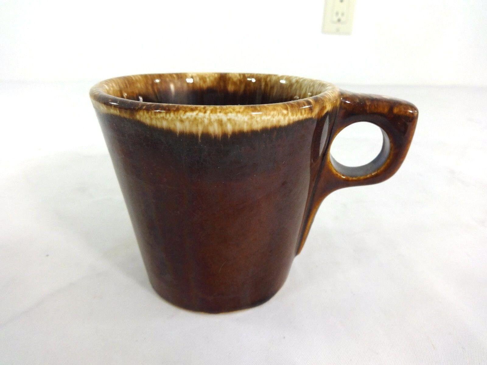 3fba9db2612 Hull Pottery Brown Drip Coffee Mug Vintage Oven Pruf Proof USA | eBay