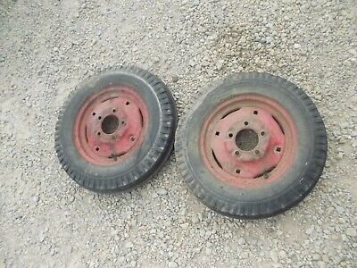 International Cub Or Low Boy Tractor 4.00 X 12 Front Fs Tires Ihc Ih Rim Rims
